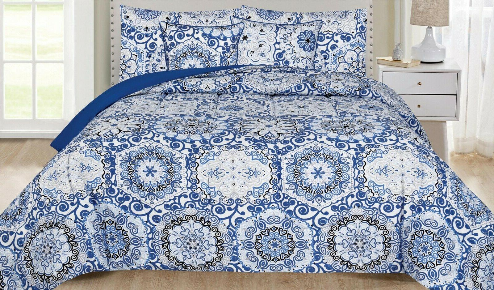Ultra Soft Reversible Comforter Hypoallergenic Printed