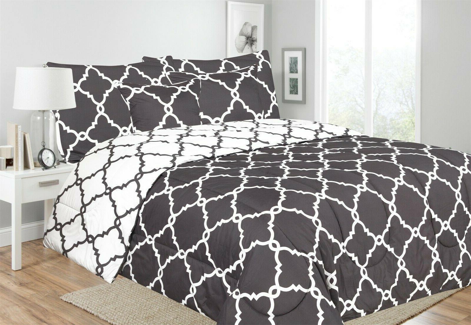 Ultra Piece Reversible Comforter Set Hypoallergenic Printed Comforter