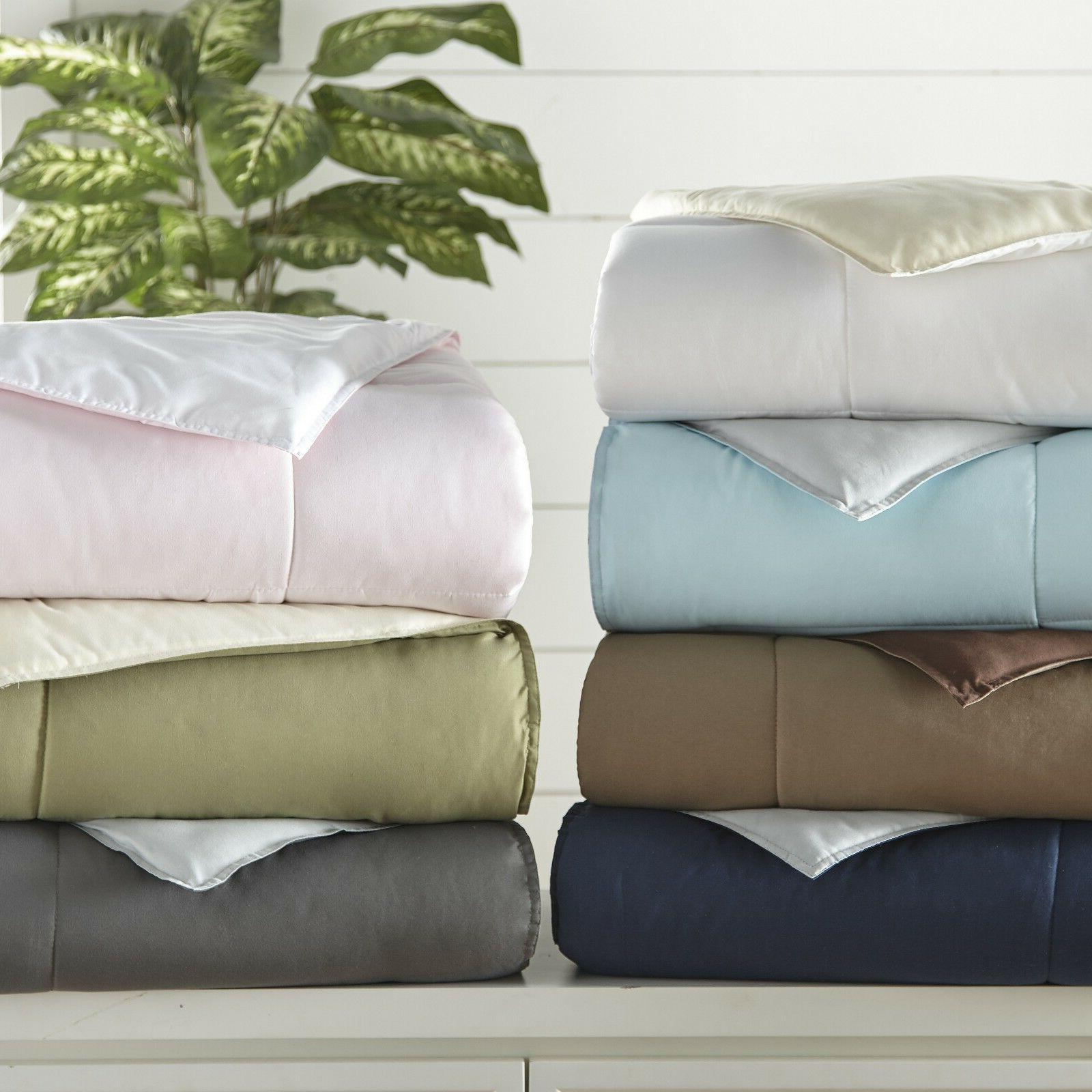 Home Down Reversible Comforter Set -