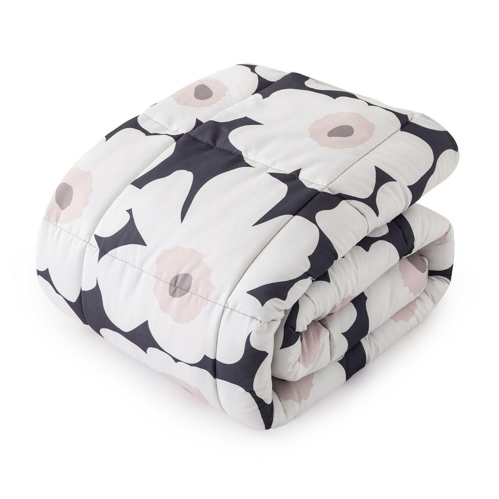 Peace Nest Soft Plumeria Pattern Reversible Alternative Comforter Set