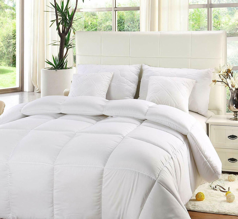 comforter duvet insert white quilted down alternative