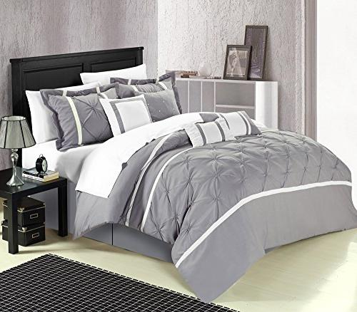 Vermont Grey Piece Comforter Bed Sheet
