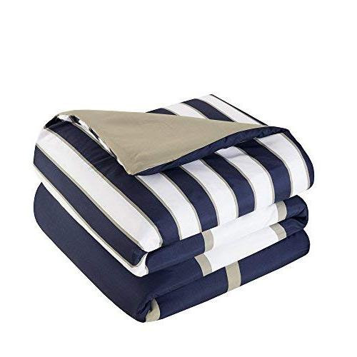 Comfort Spaces - Verone Comforter - Piece White, Khaki - Perfect for College Dormitory, Guest - Size, 1 2 1 Pillow