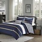 Comfort Comforter - Piece - White, Navy, Khaki - Perfect Guest Size, 2 Decorative Pillow