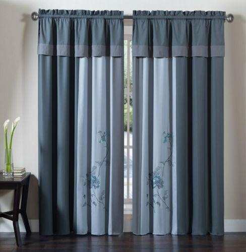 Chezmoi 7-Piece Floral Embroidery or Curtain