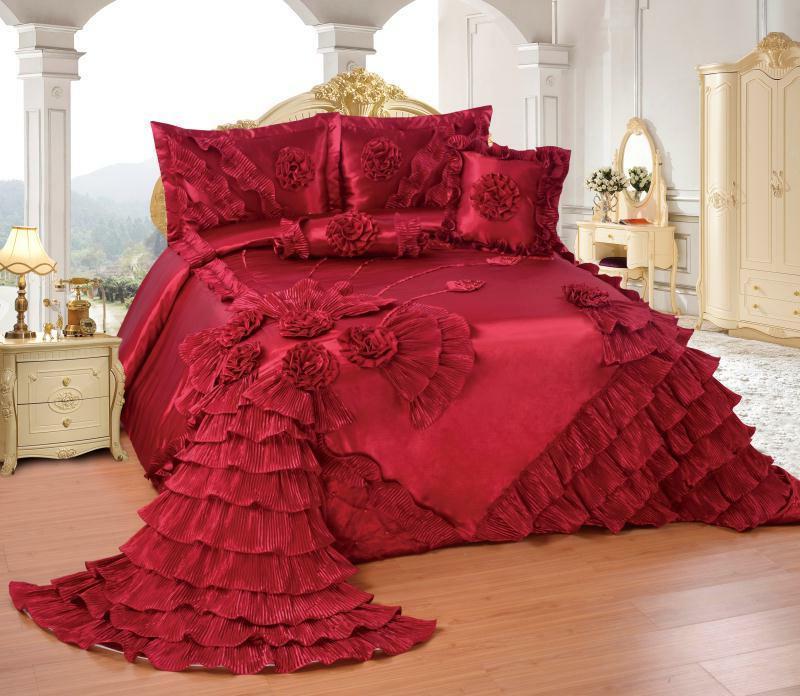 OctoRose Wedding Bedspread Set or SKIRT
