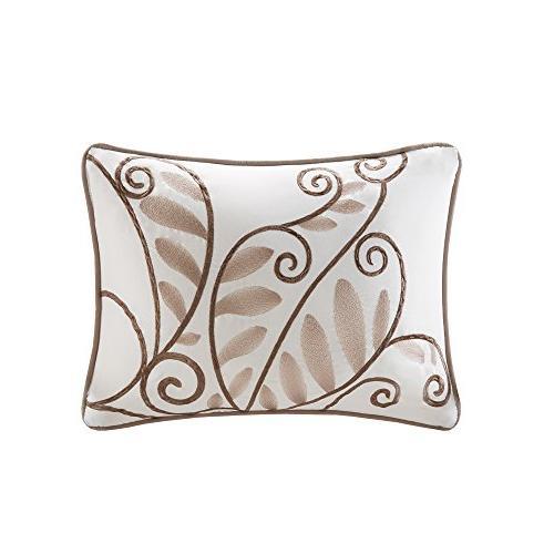 Comfort Windsor Comforter 5 Piece – Khaki, Ivory – Pintuck King Size, Includes Comforter, 1 Decorative Pillow, Skirt