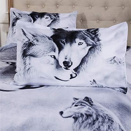 Homebed PCS Duvet Cover Set with Zipper Pattern Printed-King Size Set