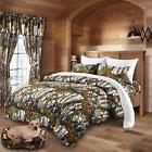 7 PC THE WOODS KING  WHITE CAMO COMFORTER AND SHEET  SET CAM