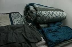 Stratford Park Laila8-Q-Gry Queen Size Laila Modern Comforte