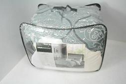 lavine 12 piece jacquard comforter set light