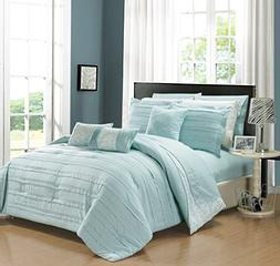 Chic Home 10 Piece Lea Complete Pleated ruffles and Reversib