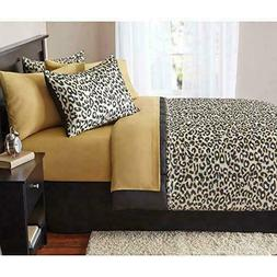 Leopard Animal Comforter and Sheet Set FULL 8 PCS Exotic Saf