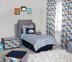 Bacati Liam Aztec Triangles Cotton Muslin 4 Piece Toddler Be