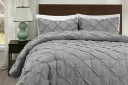 Light Gray Master Pinch Pleat Comforter Set