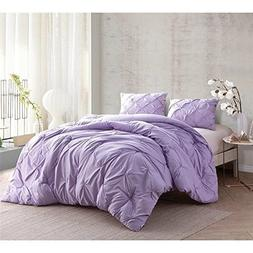 OSD 3pc Light Purple Pinch Pleated Comforter Queen Set, Lave