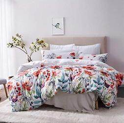 Leadtimes Duvet Cover Set Queen Duvet Cover Floral Boho Hote