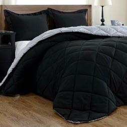 downluxe Lightweight Solid Comforter Set  with 2 Pillow Sham