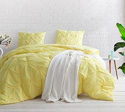 Byourbed Limelight Yellow Pin Tuck Twin XL Comforter