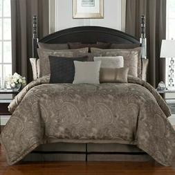 Waterford Linens Glenmore 4 Piece QUEEN Comforter Set Mink N