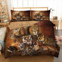 Animal Duvet Cover Set For Comforter King Queen Size Bedding