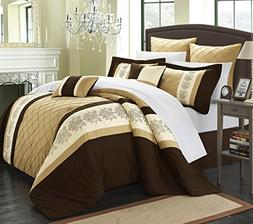 Chic Home Livingston 8-Piece Embroidered Comforter Set Embro