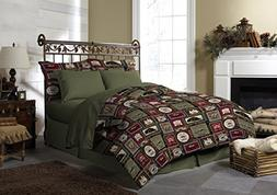 Pine Creek Lodge Comforter Set Including Shams - Premium Lux