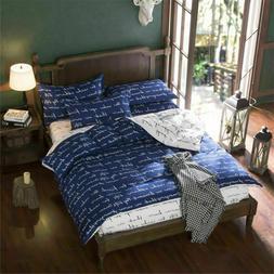 Love Letter Print Duvet Cover Set Comforter Cover Bedding Se