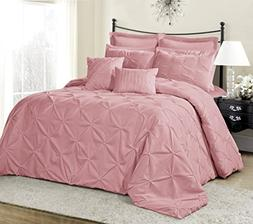 8 Piece Lucilla Bed in a Bag Comforter Sets- Queen King Cal.