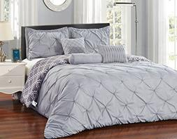 Unique Home 8-Piece Lucilla Pinch Pleat Comforter Set - Fade