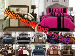 Luxurious 11-PC Micro Suede Winter Soft Comforter Set Bed In