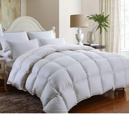 LUXURIOUS 1200TC BAFFLE BOX Siberian GOOSE DOWN Comforter TW
