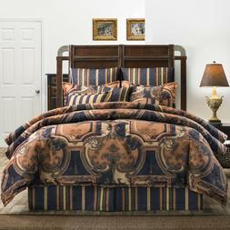 Luxurious Acanthus Leaf & Stripe Jacquard Comforter Bedding