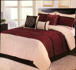 Luxurious Modern Burgundy Lining Pattern Floral Touch Comfor