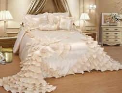 Luxurious Wedding Bedding Oversize Comforter Bedspread Quilt