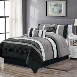 Luxury All Season Davin 7PC Bedding Include Comforter Skirt