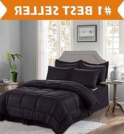 Elegant Comfort Luxury Bed-in-a-Bag Comforter Set on Amazon