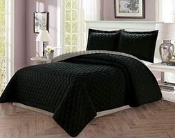 Elegant Comfort Luxury 2-Piece Bedspread Coverlet Diamond De