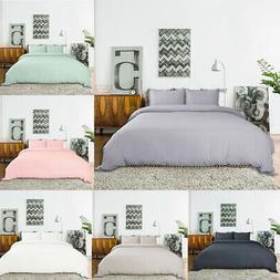 Luxury Double Brushed Pompon Duvet Cover Pillow shams Beddin