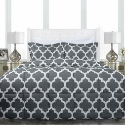 Sleep Restoration Luxury Goose Down Alternative Quatrefoil