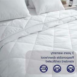 Luxury Wool Goose Down  Comforter Twin Queen King Size Beddi