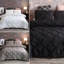 Luxury Pinch Pleat Bedding <font><b>Comforter</b></font> Bed