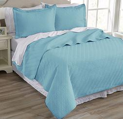 Home Fashion Designs 3-Piece Luxury Quilt Set with Shams. So