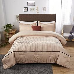 ottmar 3-Piece Luxury Stripe Comforter Set,All Season Fashio