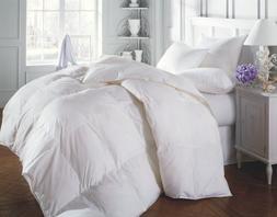 3 piece Luxury White Reversible Goose Down Alternative Comfo