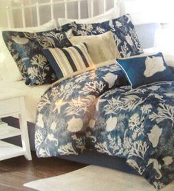 MADISON PARK  $360 NEW King Comforter Set 7P COASTAL TROPICA