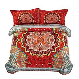 Wake In Cloud - Mandala Comforter Set, Bohemian Boho Chic Me