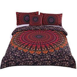 Sleepwish 4 Pcs Mandala Hippie Concealed Bedspread Bohemian