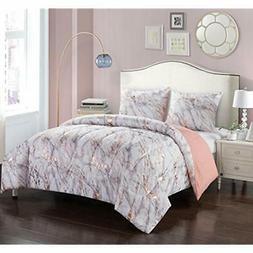 "Pop Shop Marble Comforter Set Twin Rose Gold Home "" Kitchen"