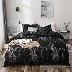 Marble Pattern 3D Bedding <font><b>Set</b></font> Luxury Wri
